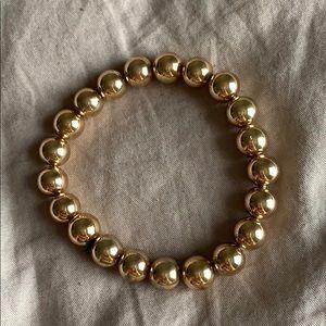 Talbots gold beaded stretch bracelet